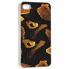 Gold Snake Skin Apple Iphone 4/4s Seamless Case (white) by BangZart