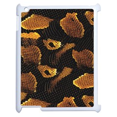 Gold Snake Skin Apple Ipad 2 Case (white) by BangZart