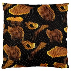 Gold Snake Skin Large Cushion Case (one Side) by BangZart