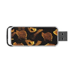 Gold Snake Skin Portable Usb Flash (one Side) by BangZart