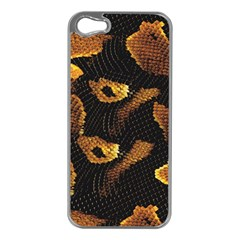 Gold Snake Skin Apple Iphone 5 Case (silver)