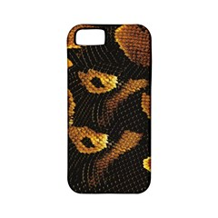 Gold Snake Skin Apple Iphone 5 Classic Hardshell Case (pc+silicone) by BangZart