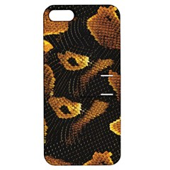 Gold Snake Skin Apple Iphone 5 Hardshell Case With Stand by BangZart