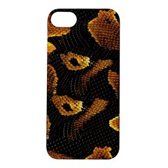 Gold Snake Skin Apple Iphone 5s/ Se Hardshell Case by BangZart