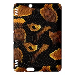 Gold Snake Skin Kindle Fire Hdx Hardshell Case by BangZart