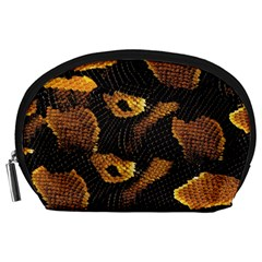Gold Snake Skin Accessory Pouches (large)  by BangZart