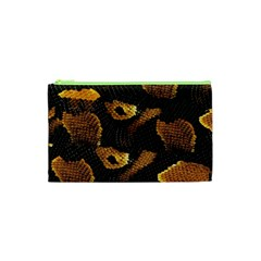 Gold Snake Skin Cosmetic Bag (xs)
