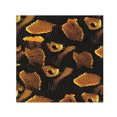 Gold Snake Skin Small Satin Scarf (square) by BangZart