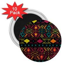 Bohemian Patterns Tribal 2 25  Magnets (10 Pack)  by BangZart
