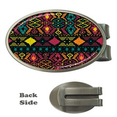 Bohemian Patterns Tribal Money Clips (oval)