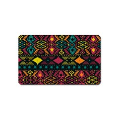 Bohemian Patterns Tribal Magnet (name Card)