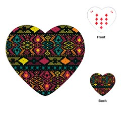 Bohemian Patterns Tribal Playing Cards (heart)