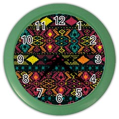 Bohemian Patterns Tribal Color Wall Clocks by BangZart