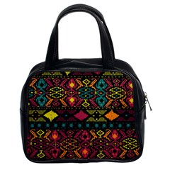 Bohemian Patterns Tribal Classic Handbags (2 Sides) by BangZart