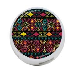 Bohemian Patterns Tribal 4 Port Usb Hub (one Side)
