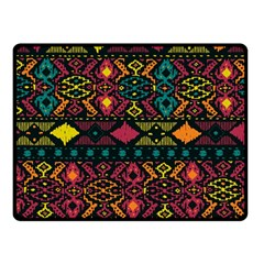 Bohemian Patterns Tribal Double Sided Fleece Blanket (small)  by BangZart