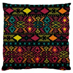 Bohemian Patterns Tribal Large Flano Cushion Case (two Sides) by BangZart