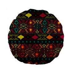 Bohemian Patterns Tribal Standard 15  Premium Flano Round Cushions