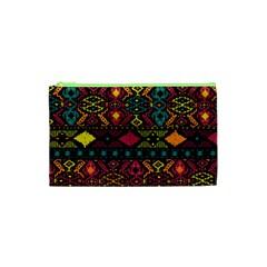 Bohemian Patterns Tribal Cosmetic Bag (xs) by BangZart