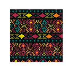 Bohemian Patterns Tribal Small Satin Scarf (square)