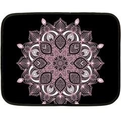 Ornate Mandala Fleece Blanket (mini) by Valentinaart