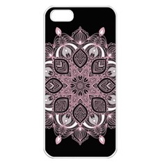 Ornate Mandala Apple Iphone 5 Seamless Case (white) by Valentinaart