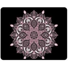 Ornate Mandala Double Sided Fleece Blanket (medium)  by Valentinaart