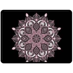 Ornate Mandala Double Sided Fleece Blanket (large)  by Valentinaart