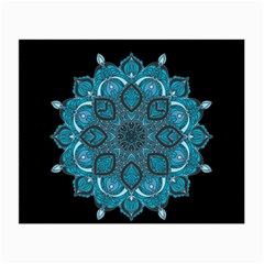 Ornate Mandala Small Glasses Cloth (2 Side) by Valentinaart