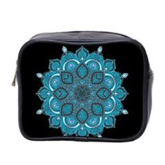 Ornate Mandala Mini Toiletries Bag 2 Side by Valentinaart