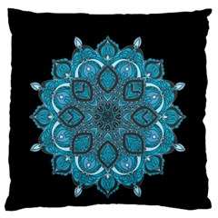 Ornate Mandala Large Flano Cushion Case (two Sides) by Valentinaart
