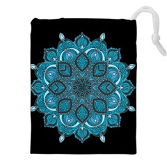 Ornate Mandala Drawstring Pouches (xxl) by Valentinaart