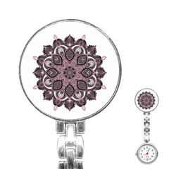 Ornate Mandala Stainless Steel Nurses Watch by Valentinaart