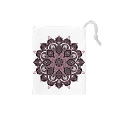 Ornate Mandala Drawstring Pouches (small)  by Valentinaart