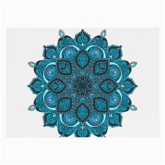 Ornate Mandala Large Glasses Cloth (2 Side) by Valentinaart