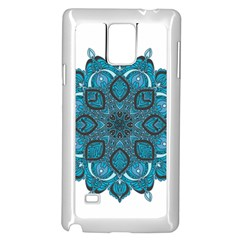 Ornate Mandala Samsung Galaxy Note 4 Case (white) by Valentinaart