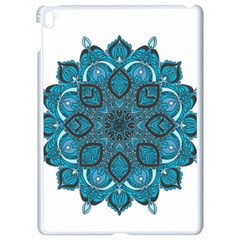 Ornate mandala Apple iPad Pro 9.7   White Seamless Case