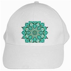 Ornate Mandala White Cap by Valentinaart