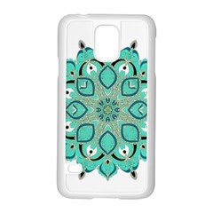 Ornate Mandala Samsung Galaxy S5 Case (white) by Valentinaart