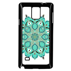 Ornate Mandala Samsung Galaxy Note 4 Case (black) by Valentinaart