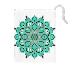 Ornate Mandala Drawstring Pouches (extra Large) by Valentinaart
