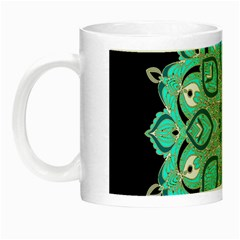 Ornate Mandala Night Luminous Mugs by Valentinaart