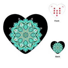 Ornate Mandala Playing Cards (heart)  by Valentinaart