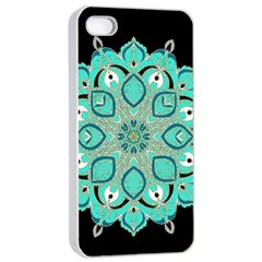 Ornate Mandala Apple Iphone 4/4s Seamless Case (white) by Valentinaart