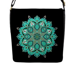 Ornate Mandala Flap Messenger Bag (l)  by Valentinaart