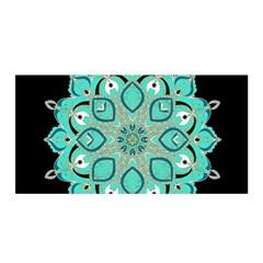 Ornate Mandala Satin Wrap by Valentinaart
