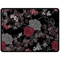 Sakura Rose Double Sided Fleece Blanket (large)  by iVelz