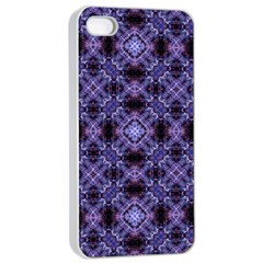 Lavender Moroccan Tilework  Apple Iphone 4/4s Seamless Case (white) by KirstenStar