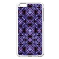 Lavender Moroccan Tilework  Apple Iphone 6 Plus/6s Plus Enamel White Case