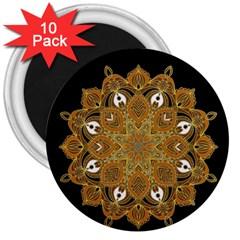 Ornate Mandala 3  Magnets (10 Pack)  by Valentinaart
